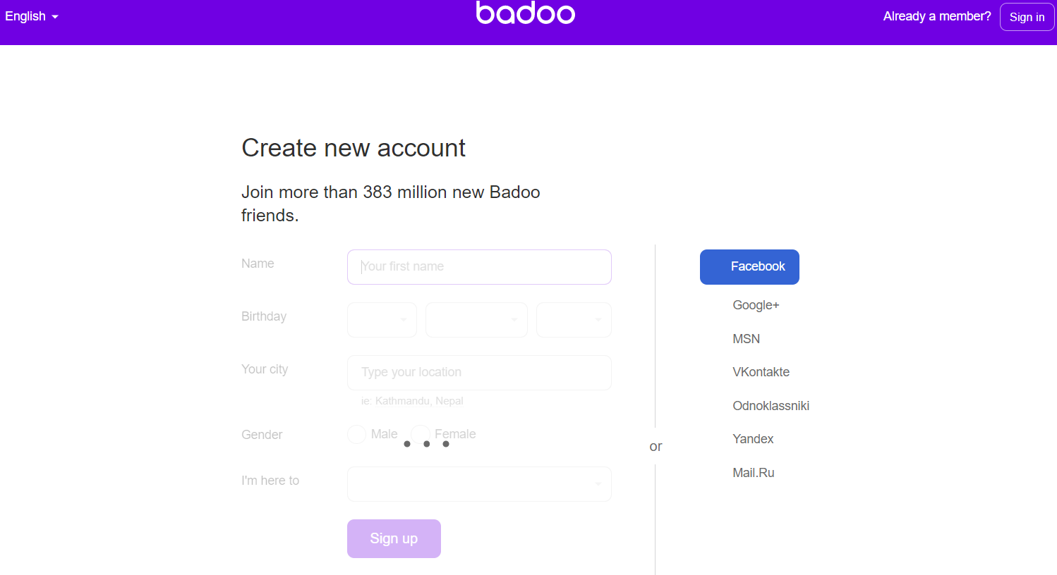 Badoo Dating Sign Up And Set Up Account