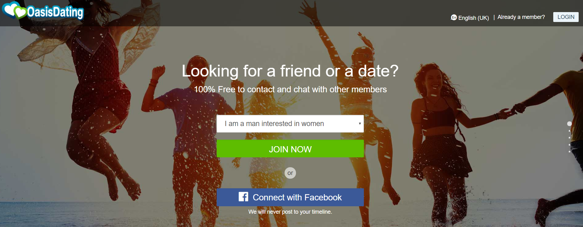 Oasis Active Online Dating Sign Up