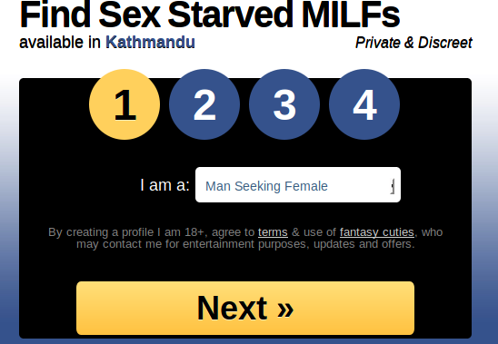 Milfaholic Account Sign Up