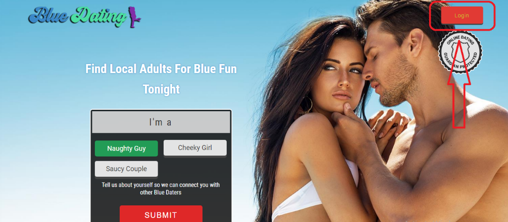 login and reset Blue Online Dating